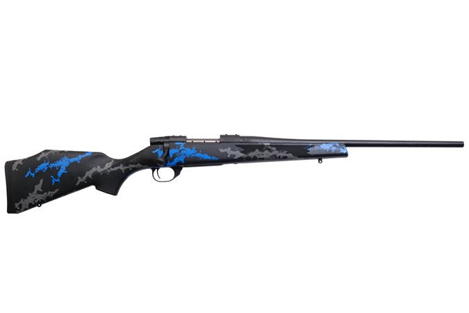 """Weatherby Vanguard Blue Compact 6.5 Creedmoor Rifle - Item #: WBVYB65CMR0O / MFG Model #: VYB65CMR0O / UPC: 747115445363 - VANGUARD BLUE CMPT 6.5CM 20"""" 20"""" BBL/STOCK SPACERS INCLUDED"""
